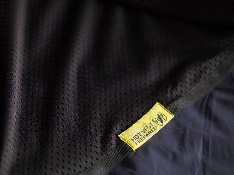 Hot Vest prep label